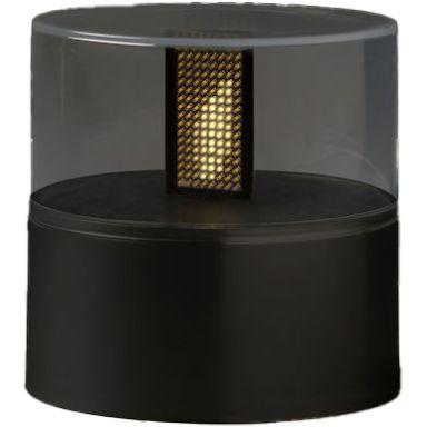 Konstsmide 1897-700 Ljusmarschall batteridrivet, svart bas, timer 8H, 2xC