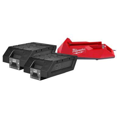 Milwaukee KIT MXF NRG-406 Ladepakke to batterier og ladere