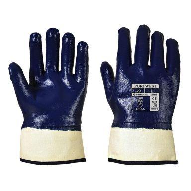 Portwest A302 Handske marinblå, heldoppad nitril