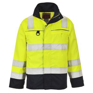 Portwest FR61 Jacka Hi-Vis gul/marinblå, flamskyddad