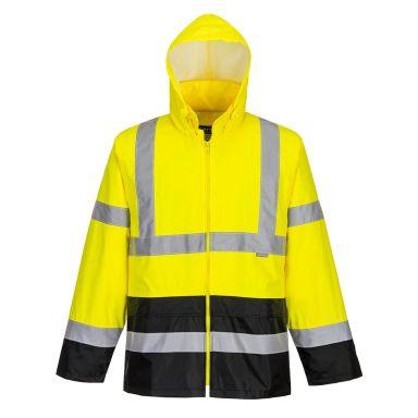 Portwest H443 Regnjacka Hi-Vis gul/svart
