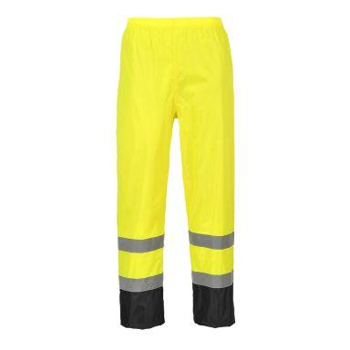 Portwest H444 Regnbukse Hi-Vis gul/svart