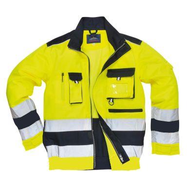 Portwest Lille Jacka Hi-Vis gul/marinblå