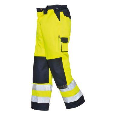 Portwest Lyon Byxa Hi-Vis gul/marinblå