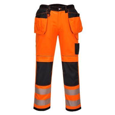 Portwest PW3 Arbetsbyxa Hi-Vis orange