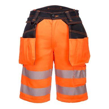 Portwest PW3 Arbeidsshorts Hi-Vis oransje