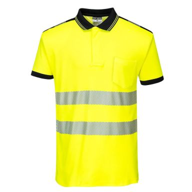 Portwest PW3 Pikéskjorte Hi-Vis gul