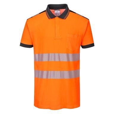 Portwest PW3 Pikéskjorte Hi-Vis oransje