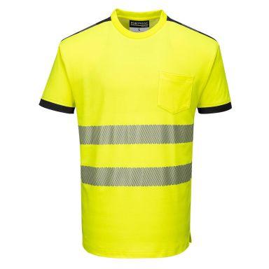 Portwest PW3 T-shirt Hi-Vis gul