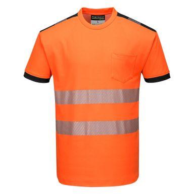 Portwest PW3 T-skjorte Hi-Vis oransje
