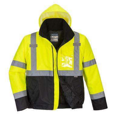 Portwest S363 Jacka Hi-Vis gul/svart