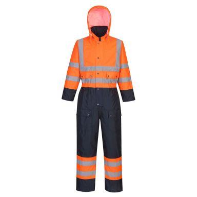 Portwest S485 Overall Hi-Vis orange/marinblå