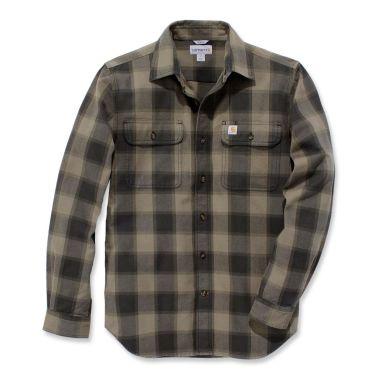 Carhartt Hubbard Flanellskjorta grå/beige, slim fit