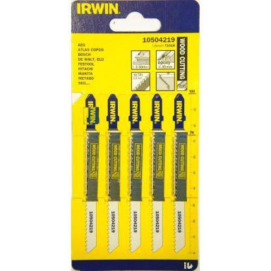 Irwin 10504219 Stikksagblad T-feste, 100 mm, 10 TPI, 5-pakning