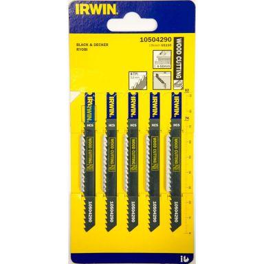 Irwin 10504290 Pistosahanterä 100 mm, 8 TPI, 5 kpl