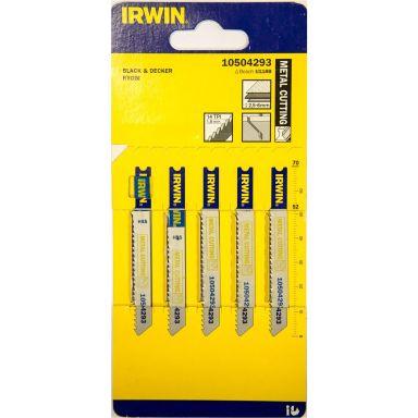 Irwin 10504293 Stikksagblad 70 mm, 12 TPI, 5-pakning