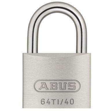 ABUS 64TI/40 Hengelås 40 mm, titalium, 2-pakk