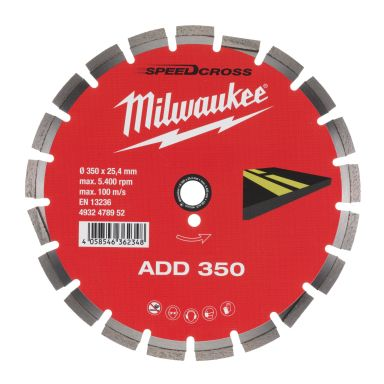 Milwaukee ADD ASFALT 350 Diamantkappskive Skivediameter 350 mm