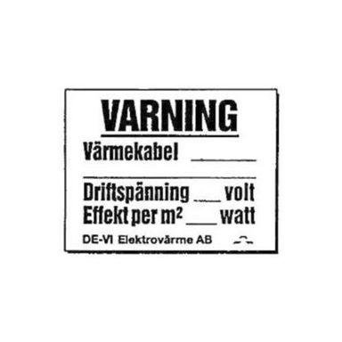 DEVI 8010068 Varningsskylt