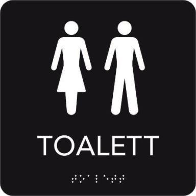 UniGraphics 6705354 Skylt toalett, taktil, 150 x 150 mm