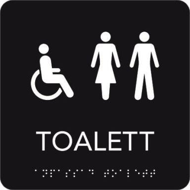 UniGraphics 6705358 Skylt rullstol/toalett, taktil, 150 x 150 mm