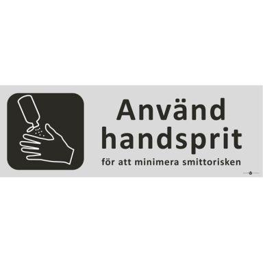 UniGraphics 6705297 Skylt Använd handsprit, 225 x 80 mm