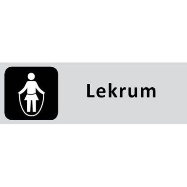 UniGraphics 6705310 Skylt Lekrum, 225 x 80 mm