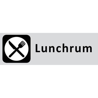UniGraphics 6705312 Skylt Lunchrum, 225 x 80 mm