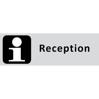 UniGraphics 6705317 Skylt Reception, 225 x 80 mm