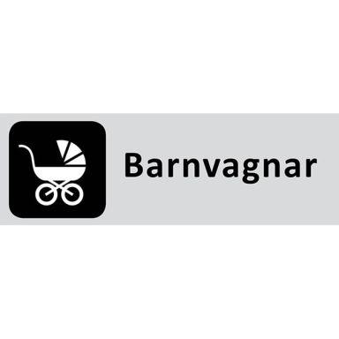 UniGraphics 6705320 Skylt Barnvagnar, 225 x 80 mm