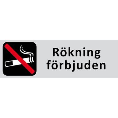 UniGraphics 6705324 Skylt Rökning förbjuden, 225 x 80 mm