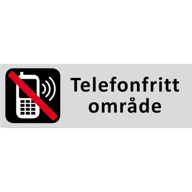 UniGraphics 6705328 Skylt Telefonfritt område, 225 x 80 mm