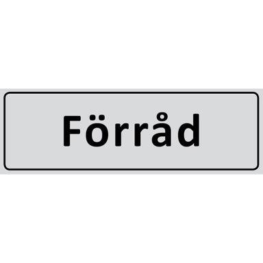 UniGraphics 6705333 Skylt Förråd, 225 x 80 mm