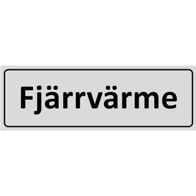 UniGraphics 6705335 Skylt Fjärrvärme, 225 x 80 mm