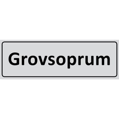 UniGraphics 6705340 Skylt Grovsoprum, 225 x 80 mm