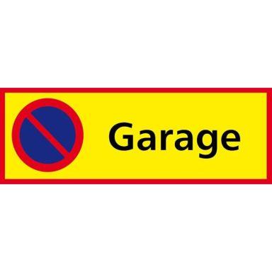 UniGraphics 6705433 Skylt Garage, parkering förbjuden