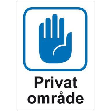 UniGraphics 6705412 Skylt Privat område, A4, plast