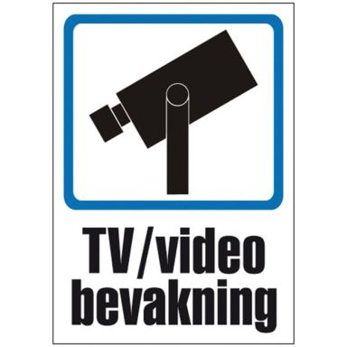 UniGraphics 6705413 Skylt TV/Video bevakning, plast