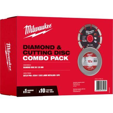 Milwaukee 4932479629 Kombokit med metallkapskiva och diamantkapskiva