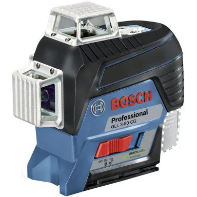 Bosch GLL 3-80 CG Korslaser grön, med L-BOXX, utan batteri & laddare