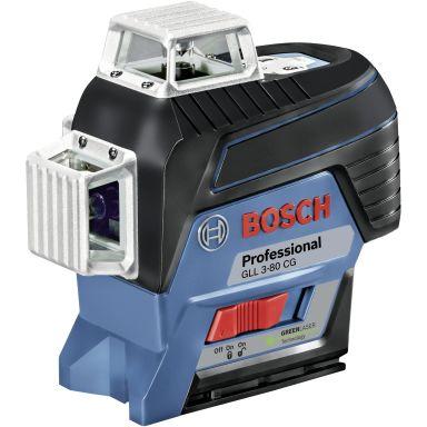 Bosch GLL 3-80 CG Krysslaser med 2,0Ah batteri og lader