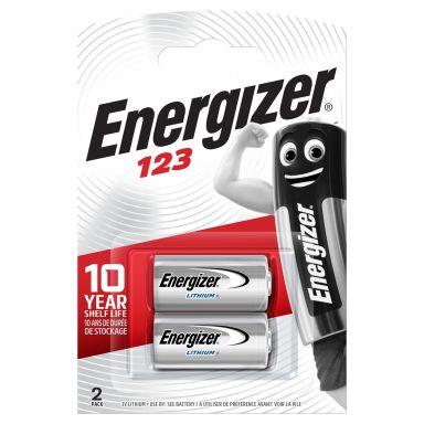 Energizer Photo 123 Fotobatteri litium, 3 V, 2-pakning