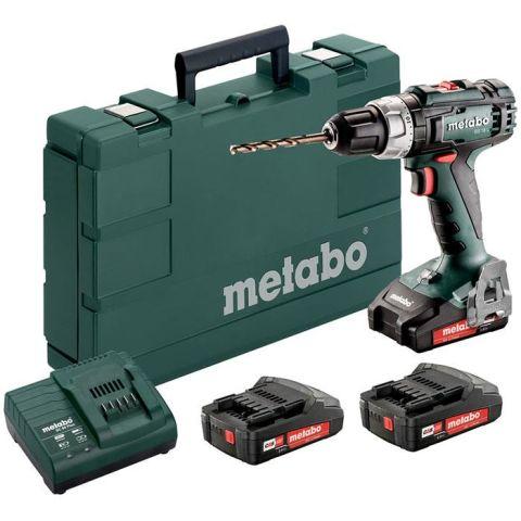 1110904 Metabo BS 18 L SET Borrskruvdragare med 3 st 2,0Ah batterier och laddare