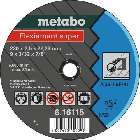 1110080 Metabo 616111000 Kapskiva