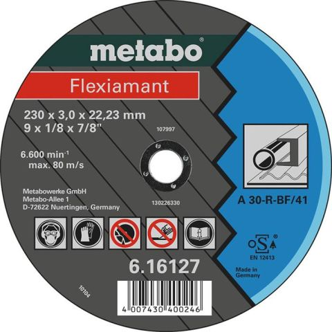 1110113 Metabo 616121000 Kapskiva