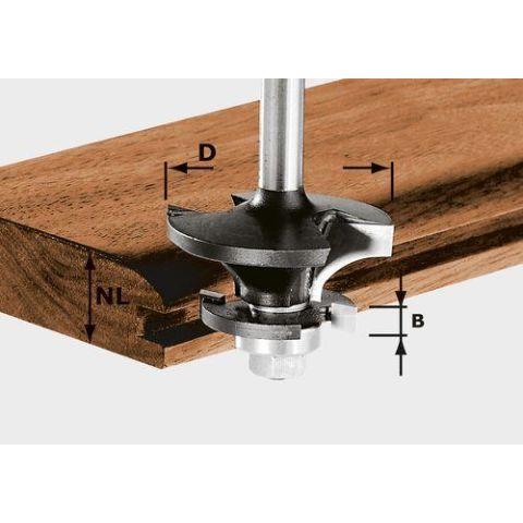 1120714 Festool HW S8 D43/21 A/KL Kontraprofilfräs 8mm spindel