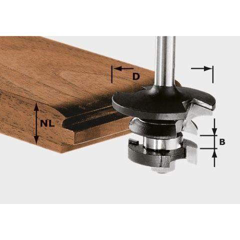 1120715 Festool HW S8 D43/21 A/KL Kontraprofilfräs 8mm skaft