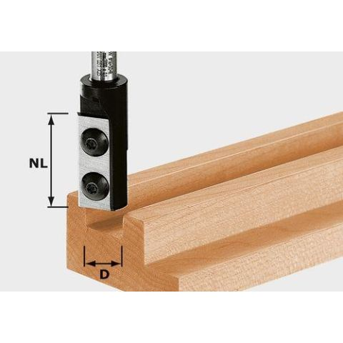 1120692 Festool HW S8 D10/25 WP Z1 Notfräs med vändskär, 8mm