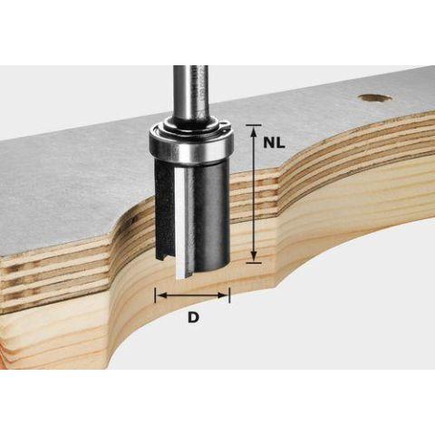 1120654 Festool HW S8 D12,7/NL25 Kantfräs 8mm spindel