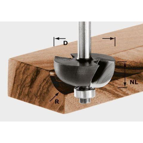 1120650 Festool HW S8 D38,1/R12,7 KL Hålkälsfräs 8mm spindel